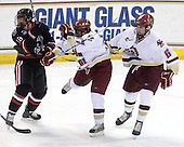 Mike McLaughlin (NU - 18), Brian Gibbons (BC - 17), Patrick Wey (BC - 6) - The Boston College Eagles defeated the Northeastern University Huskies 5-1 on Saturday, November 7, 2009, at Conte Forum in Chestnut Hill, Massachusetts.