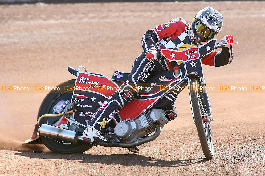 Ben Morley of Hackney Hawks in riding action - Hackney Hawks Speedway Press & Practice Day at Arena Essex Raceway, Purfleet, Essex - 23/03/11 - MANDATORY CREDIT: Gavin Ellis/TGSPHOTO - Self billing applies where appropriate - Tel: 0845 094 6026
