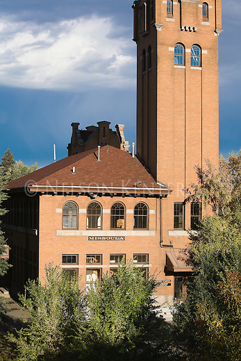 The old Milwaukee Depot Building is now the headquarters of the Boone and Crockett Club in Missoula, Montana