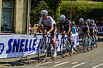 Michael Schaer leading the chasing peloton Amstel Gold Race, 20th April 2014, Photo by Thomas van Bracht / www.pelotonphotos.com