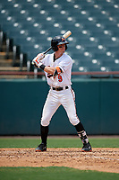 Bowie Baysox Chris Clare (9) at bat during an Eastern League game against the Akron RubberDucks on May 30, 2019 at Prince George's Stadium in Bowie, Maryland.  Akron defeated Bowie 9-5.  (Mike Janes/Four Seam Images)