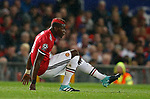 Paul Pogba of Manchester United sits injured during the Champions League Group A match at the Old Trafford Stadium, Manchester. Picture date: September 12th 2017. Picture credit should read: Andrew Yates/Sportimage