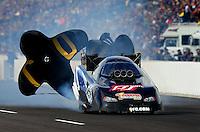 Feb. 20, 2010; Chandler, AZ, USA; NHRA funny car driver Terry Haddock during qualifying for the Arizona Nationals at Firebird International Raceway. Mandatory Credit: Mark J. Rebilas-