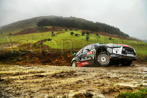 14.11.2015. Wales. WRC Rally of Great Britan. Stages 11-14, Wales.  <br /> Mads Ostberg (NOR) and Jonas Andersson (SWE) - Citroen DS3 WRC