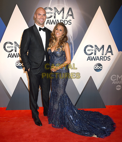 4 November 2015 - Nashville, Tennessee - Mike Caussin, Jana Kramer. 49th CMA Awards, Country Music's Biggest Night, held at Bridgestone Arena. <br /> CAP/ADM/LF<br /> &copy;LF/ADM/Capital Pictures