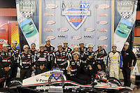 10/19/13 Fontana, CA: MAVTV Winner Will Power and his crew after winning the 2013 MAVTV 500 held at the Auto Club Speedway