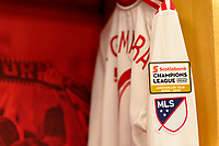 "Harrison, NJ - Thursday March 01, 2018: Alejandro Romero Gamarra ""Kaku"", New York Red Bulls locker room. The New York Red Bulls defeated C.D. Olimpia 2-0 (3-1 on aggregate) during a 2018 CONCACAF Champions League Round of 16 match at Red Bull Arena."