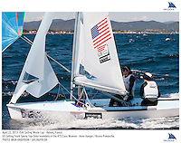 Hyeres, France, 20130424: ISAF SAILING WORLD CUP - approx 900 sailors compete in all the Olympic boat classes at the last event on the 2012/2013 World Cup. 470 W - USA - Annie Haeger / Briana Provancha. Photo: Mick Anderson/SAILINGPIX..Note: High-res TIFFs availble upon request.