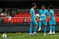 ATENÇÃO EDITOR: FOTO EMBARGADA PARA VEÍCULOS INTERNACIONAIS - SÃO PAULO,SP,06 SETEMBRO 2012 - TREINO SELEÇÃO BRASILEIRA - Daniel Aves durante treino da seleção brasileira na tarde de hoje no estadio Cicero Pompeu de Toledo (Morumbi).FOTO ALE VIANNA - BRAZIL PHOTO PRESS.