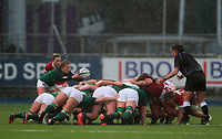 9nd February 2020; Energia Park, Dublin, Leinster, Ireland; International Womens Rugby, Six Nations, Ireland versus Wales; Kathryn Dane (Ireland) prepares to put in to the scrum