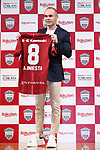 Vissel Kobe's new signing Andres Iniesta attends a press conference in Tokyo, Japan on Thursday, May 24, 2018.<br /> Barcelona legend playmaker announced he has signed with J-League first-division side Vissel Kobe. <br /> (Photo by Naoki Nishimura/AFLO SPORT)