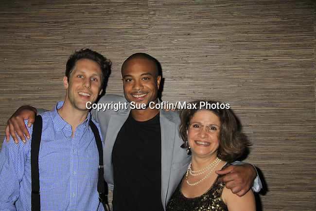 "Kevin DeBacker & Christian Barber & Mary Leggio at the Season Four Premiere Party for Empire The Series ""Some of the Biggest Scandals Don't Make The Papers"" on July 14, 2012 at the Tribeca Grand, New York City, New York with the cast. (Photo by Sue Coflin/Max Photos)"