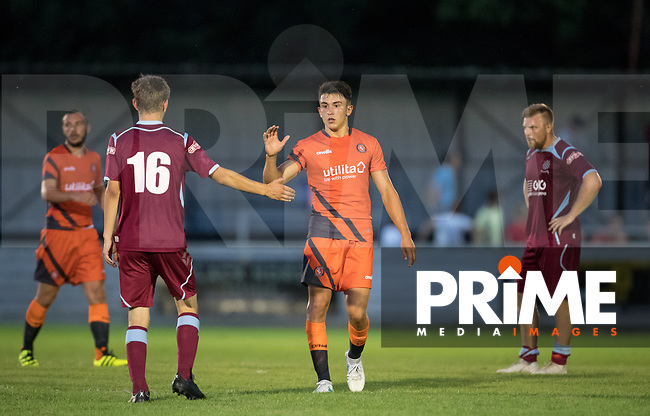 Luke O'Nien of Wycombe Wanderers at full time during the 2018/19 Pre Season Friendly match between Chesham United and Wycombe Wanderers at the Meadow , Chesham, England on 24 July 2018. Photo by Andy Rowland.