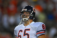 Oct. 16, 2006; Glendale, AZ, USA; Chicago Bears safety (65) Patrick Mannelly against the Arizona Cardinals at University of Phoenix Stadium in Glendale, AZ. Mandatory Credit: Mark J. Rebilas
