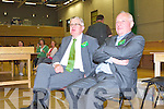 Job Done Michael O'Leary and relax and listen to the speeches after the count was over in Killarney Sunday night