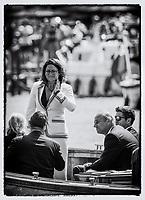 Henley-on-Thames. United Kingdom.  2nd July 2017 2017 Henley Royal Regatta, Henley Reach, River Thames. <br /> Umpire and HRR Steward Guin BATTEN <br /> <br /> 15:19:47  Sunday  02/07/2017   <br /> <br /> [Mandatory Credit. Peter SPURRIER/Intersport Images.