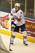 March 13, 2009:  Defenseman Michael Caruso (2) of the Rochester Amerks, AHL affiliate of the Florida Panthers, in the first period during a game at the Blue Cross Arena in Rochester, NY.  Toronto defeated Rochester 4-2.  Photo copyright Mike Janes Photography 2009
