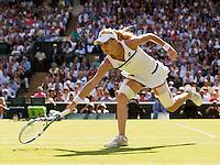 Agnieszka Radwanska<br /> <br /> Tennis - The Championships Wimbledon  - Grand Slam -  All England Lawn Tennis Club  2013 -  Wimbledon - London - United Kingdom - Thursday  4th July 2013. <br /> &copy; AMN Images, 8 Cedar Court, Somerset Road, London, SW19 5HU<br /> Tel - +44 7843383012<br /> mfrey@advantagemedianet.com<br /> www.amnimages.photoshelter.com<br /> www.advantagemedianet.com<br /> www.tennishead.net