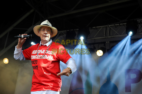LONDON, UK, JUNE 28: Sir Ian McKellen live on stage at Pride London in Trafalgar Square on June 28th 2014 in London, England, UK.<br /> CAP/MAR<br /> &copy; Martin Harris/Capital Pictures