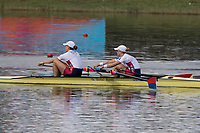 Sarasota. Florida USA.  USA W2-. Bow. Megan KALMO and Tracy EISSER. Final A at the . 2017 World Rowing Championships, Nathan Benderson Park<br /> <br /> Saturday  30.09.17   <br /> <br /> [Mandatory Credit. Peter SPURRIER/Intersport Images].<br /> <br /> <br /> NIKON CORPORATION -  NIKON D500  lens  VR 500mm f/4G IF-ED mm. 250 ISO 1/800/sec. f 7.1