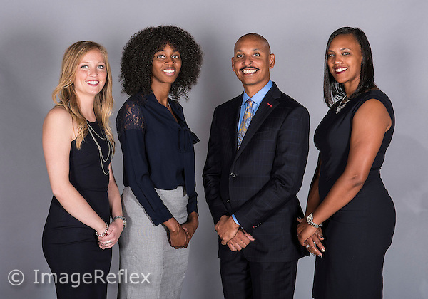 Florida International University women's basketball coaches at picture day on October 14, 2015 at Miami, Florida.
