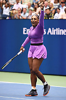 FLUSHING NY- SEPTEMBER 07: Serena Williams Vs Bianca Andreescu during the women's finals on Arthur Ashe Stadium at the USTA Billie Jean King National Tennis Center on September 7, 2019 in Flushing Queens, New York City.      <br /> CAP/MPI04<br /> ©MPI04/Capital Pictures