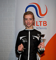 November 30, 2014, Almere, Tennis, Winter Youth Circuit, WJC,  Prizegiving,  Manouk van Zijl 7th place<br /> Photo: Henk Koster