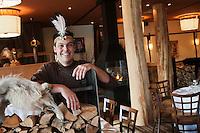 Amérique/Amérique du Nord/Canada/Québec/ Env de Québec/ Wendake: Martin Gagné. chef du Restaurant la Traite à l' Hôtel-Musée des Premières Nations
