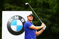 Oliver Fisher on the 5th tee during the BMW PGA Golf Championship at Wentworth Golf Course, Wentworth Drive, Virginia Water, England on 28 May 2017. Photo by Steve McCarthy/PRiME Media Images.