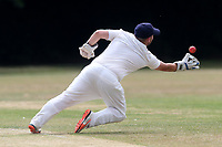 M Bones of Hornchurch takes a catch to dismiss L Pickering during Upminster CC (batting) vs Hornchurch CC, Shepherd Neame Essex League Cricket at Upminster Park on 8th July 2017
