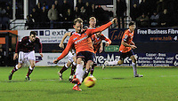 Danny Green of Luton Town scores the equalizer from the penalty spot during the Sky Bet League 2 match between Luton Town and Northampton Town at Kenilworth Road, Luton, England on 12 December 2015. Photo by Liam Smith/Prime Media Images.