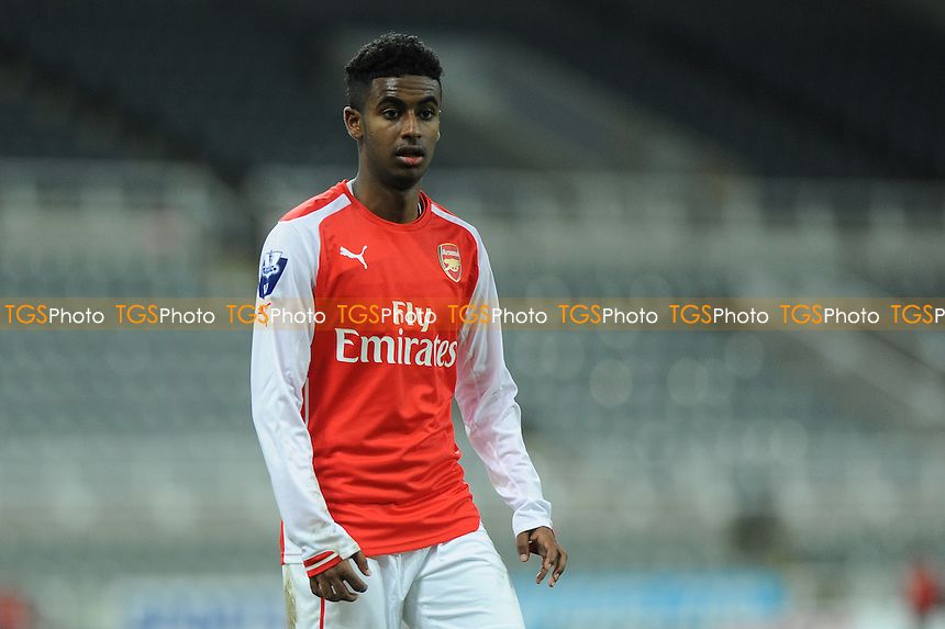 Gedion Zalalem of Arsenal - Newcastle United Under-21 vs Arsenal Under-21 - Barclays Under-21 Premier League Football at St James Park, Newcastle United FC - 09/02/15 - MANDATORY CREDIT: Steven White/TGSPHOTO - Self billing applies where appropriate - contact@tgsphoto.co.uk - NO UNPAID USE