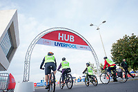 Picture by Allan McKenzie/SWpix.com - 24/09/2017 - Cycling - HSBC UK City Ride Liverpool - Albert Dock, Liverpool, England - HSBC UK, Lets ride, city ride, branding, Hub.