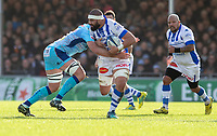 Castres Maama Vaipulu in action during todays match<br /> <br /> Photographer Bob Bradford/CameraSport<br /> <br /> European Rugby Heineken Champions Cup Pool 2 - Exeter Chiefs v Castres - Sunday 13th January 2019 - Sandy Park - Exeter<br /> <br /> World Copyright © 2019 CameraSport. All rights reserved. 43 Linden Ave. Countesthorpe. Leicester. England. LE8 5PG - Tel: +44 (0) 116 277 4147 - admin@camerasport.com - www.camerasport.com