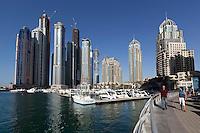 United Arab Emirates, Dubai: View over Dubai Marina | Vereinigte Arabische Emirate, Dubai: Yachthafen Dubai Marina
