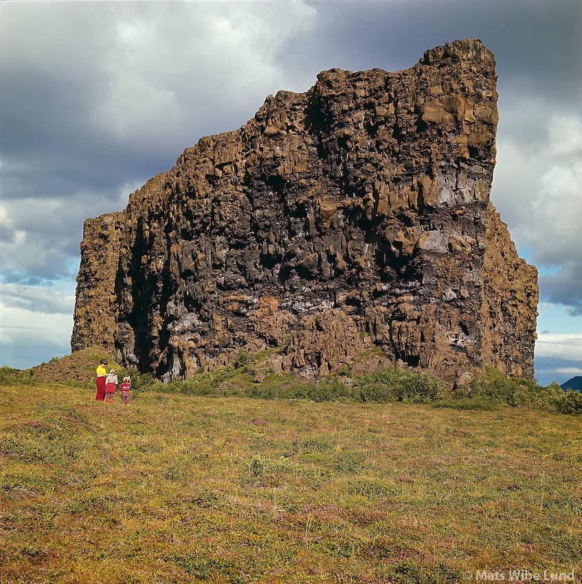Ásbyrgi, Norðurþing áður Kelduneshreppur. /.The hughe rock in Asbyrgi. Nordurthing former Kelduneshreppur