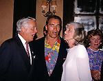 Arnold Schwarzenegger his in laws Sargent Shriver and Eunice Shriver in New York City.