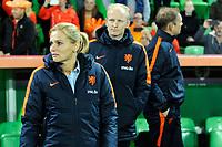 GRONINGEN -  Voetbal, Nederland - Noorwegen, Noordlease stadion, WK kwalificatie vrouwen, 24-10-2017,    Nederland trainer Sarina Wiegman