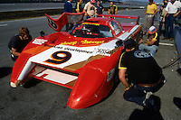DAYTONA BEACH, FL - JANUARY 31: Bobby Rahal sits in the March 82G 1/Chevrolet during practice for the 24 Hours of Daytona on January 31, 1982, at Daytona International Speedway in Daytona Beach, Florida.