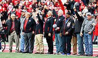 Members of the 1968 National Championship Ohio State football were honored in the 2nd quarter of the game against Minnesota Golden Gophers at Ohio Stadium in Columbus, Ohio on October 13, 2018.  [Kyle Robertson/Dispatch]