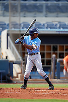 Tampa Bay Rays Kea'von Edwards (54) at bat during a Florida Instructional League game against the Baltimore Orioles on October 1, 2018 at the Charlotte Sports Park in Port Charlotte, Florida.  (Mike Janes/Four Seam Images)