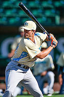 Northwest League All-Star Gio Brusa (29) of the Salem-Keizer Volcanoes at bat during the Home Run Derby at the 2nd Annual Northwest League-Pioneer League All-Star Game at Lindquist Field on August 2, 2016 in Ogden, Utah. The Northwest League defeated the Pioneer League 11-5. (Stephen Smith/Four Seam Images)