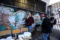 Roma, 30 Novembre 2016<br /> Liceo artistico Argan, il pranzo.<br /> Studentesse e studenti occupano la scuola contro la riforma del Governo Renzi.<br /> Murales, pulizie, corsi e assemblee in autogestione.