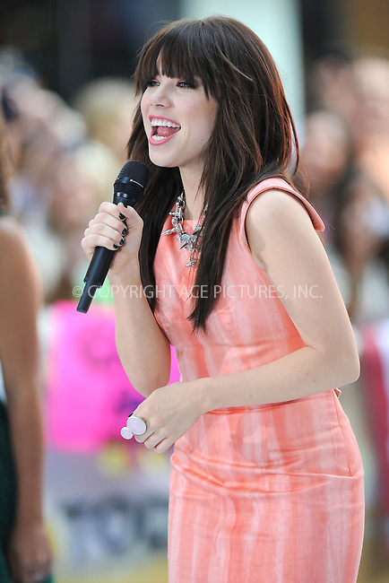 WWW.ACEPIXS.COM . . . . . .August 23, 2012...New York City...Carly Rae Jepsen & Owl City perform on NBC's 'Today' at Rockefeller Center on August 23, 2012 in New York City.....Please byline: KRISTIN CALLAHAN - ACEPIXS.COM.. . . . . . ..Ace Pictures, Inc: ..tel: (212) 243 8787 or (646) 769 0430..e-mail: info@acepixs.com..web: http://www.acepixs.com .