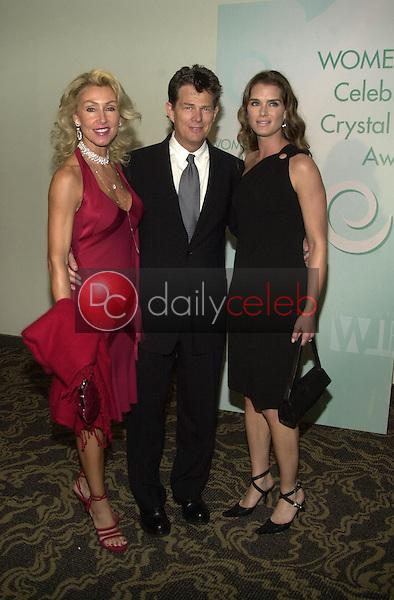 Linda Thompson, David Foster and Brooke Shields