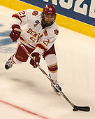 Michael Davies (DU - 21) - The University of Denver Pioneers defeated the University of Minnesota Duluth Bulldogs 3-2 to win the national championship on Saturday, April 8, 2017, at the United Center in Chicago, Illinois.