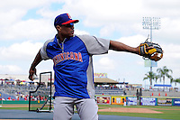 Dominican Republic second baseman Robinson Cano #24 during practice before a Spring Training game against the Philadelphia Phillies at Bright House Field on March 5, 2013 in Clearwater, Florida.  The Dominican defeated Philadelphia 15-2.  (Mike Janes/Four Seam Images)