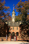 An entrance view of the Governor's Palace in Williamsburg Virginia.