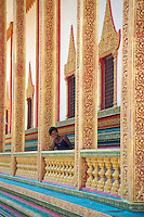 Children at Wat Phnom Krom Pagoda and Monastery near the Tonle Sap, Cambodia