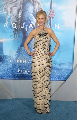 "HOLLYWOOD, CA - DECEMBER 12: Nicole Kidman, at Premiere Of Warner Bros. Pictures' ""Aquaman"" at The TCL Chinese Theater in Hollywood, California on December 12, 2018. Credit: Faye Sadou/MediaPunch"